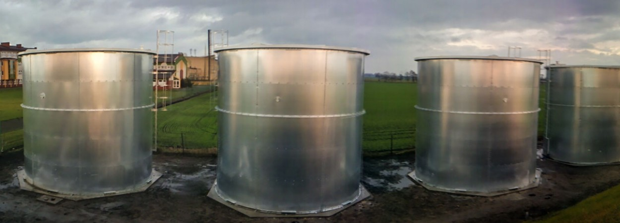 Galvanised tanks and silos